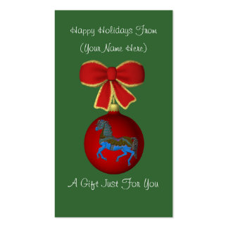 Etiqueta de la tarjeta de regalo de vacaciones del tarjetas de visita