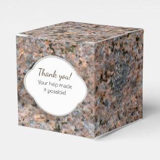 Etiqueta de la textura de la roca de la geología cajas para regalos
