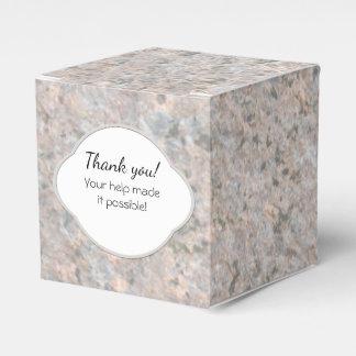 Etiqueta de la textura de la roca de la geología cajas para regalos de boda