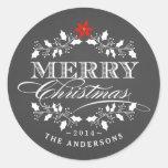 Etiqueta de la tipografía de Chalkboad del navidad