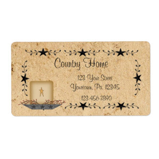 Etiqueta de la vela de la frontera de la estrella etiquetas de envío