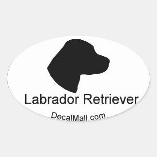 Etiqueta de la ventana del labrador retriever