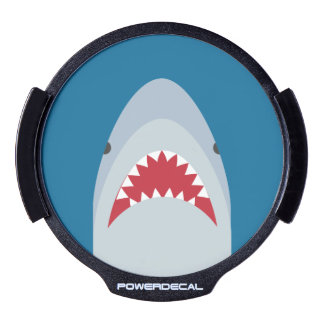 Etiqueta de la ventana LED del ataque del tiburón Pegatina LED Para Ventana