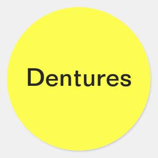Etiqueta de las dentaduras
