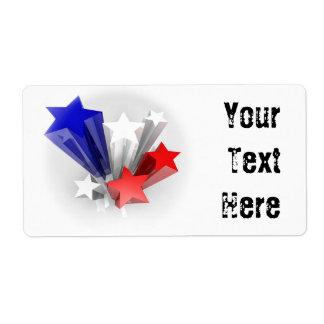 Etiqueta de las estrellas etiquetas de envío