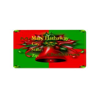 Etiqueta de las Felices Navidad Etiquetas De Dirección