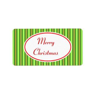 Etiqueta de las Felices Navidad Etiqueta De Dirección