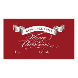 Etiqueta de las Felices Navidad muy - etiqueta del Tarjetas De Visita