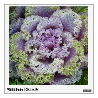 Etiqueta de las flores vinilo adhesivo