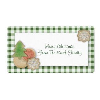 Etiqueta de las galletas del navidad etiquetas de envío