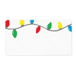 """""""Etiqueta de las luces de navidad"""" Etiqueta De Envío"""