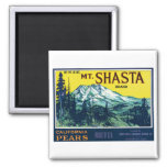 Etiqueta de las peras del Mt Shasta California del Imanes De Nevera