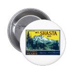 Etiqueta de las peras del Mt Shasta California del Pins