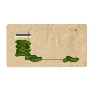 Etiqueta de las salmueras etiquetas de envío