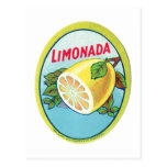 Etiqueta de Limonada del vintage Postales