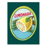 Etiqueta de Limonada del vintage Tarjetas Postales
