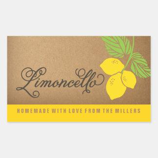 Etiqueta de Limoncello, pequeño pegatina del limón