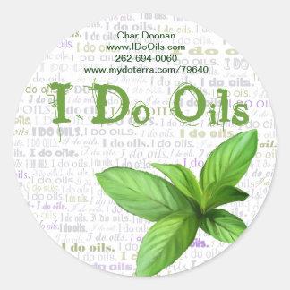 """Etiqueta de los aceites de la hierbabuena """"hago"""""""