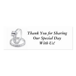Etiqueta de los anillos de bodas tarjetas de visita mini