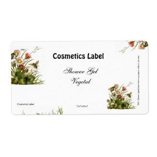 Etiqueta de los cosméticos etiquetas de envío