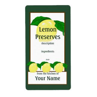 Etiqueta de los cotos del limón etiqueta de envío