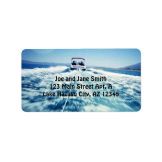 Etiqueta de los deportes acuáticos etiquetas de dirección