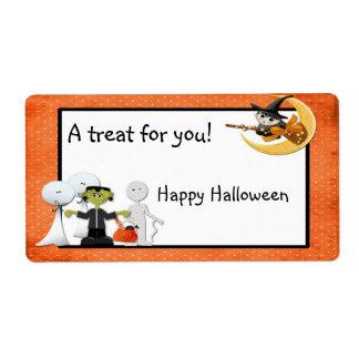 Etiqueta de los espectros de Halloween Etiquetas De Envío