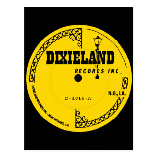 Etiqueta de los expedientes de Dixieland Tarjetas Postales