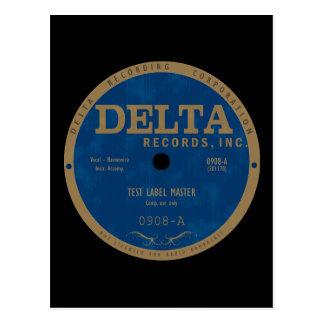 Etiqueta de los expedientes del delta tarjetas postales