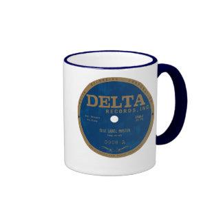 Etiqueta de los expedientes del delta tazas de café