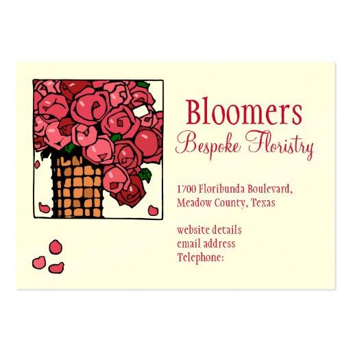 Etiqueta de los floristas tarjetas de visita grandes