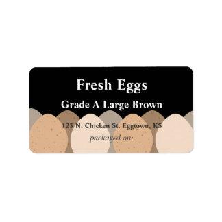 Etiqueta de los huevos de Brown Etiquetas De Dirección