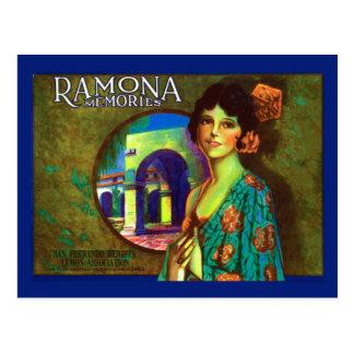 Etiqueta de los limones de las memorias de Ramona Tarjetas Postales