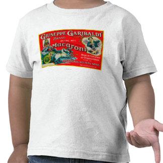Etiqueta de los macarrones de Giuseppe Garibaldi Camiseta