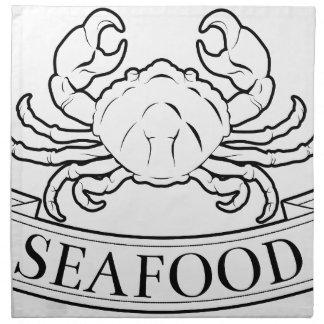 Etiqueta de los mariscos servilletas