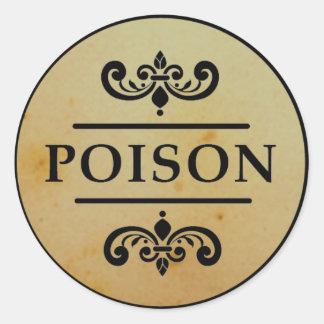 Etiqueta de los pegatinas de Halloween del veneno