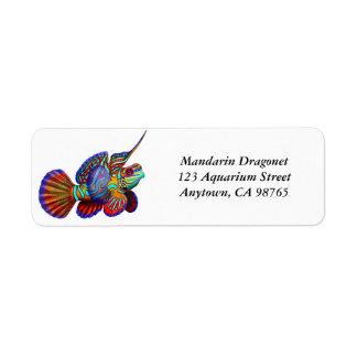 Etiqueta de los pescados del gobio de Dragonet del Etiqueta De Remite