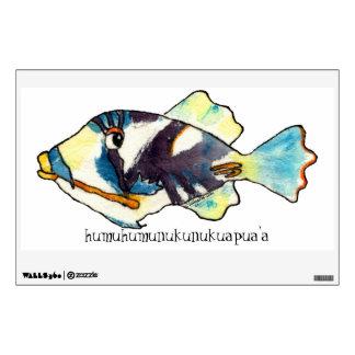 Etiqueta de los pescados w/text de Humuhumunukunuk