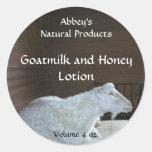 Etiqueta de los productos del baño de la leche de