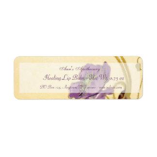 Etiqueta de los productos del protector labial o d etiqueta de remitente