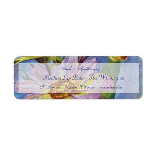 Etiqueta de los productos del protector labial o d etiquetas de remite