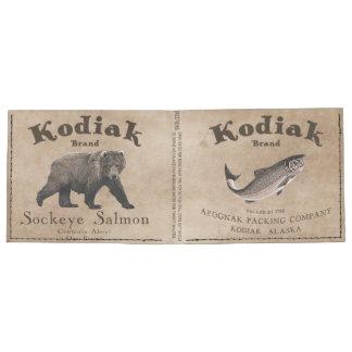 Etiqueta de los salmones del Kodiak del vintage Billeteras Tyvek®