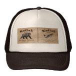 Etiqueta de los salmones del Kodiak del vintage Gorro De Camionero