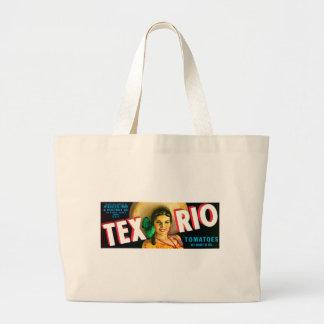 Etiqueta de los tomates de Tex Río del vintage Bolsas De Mano