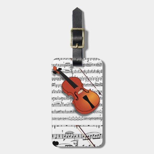 Etiqueta de Lover_Luggage del violín Etiqueta De Equipaje