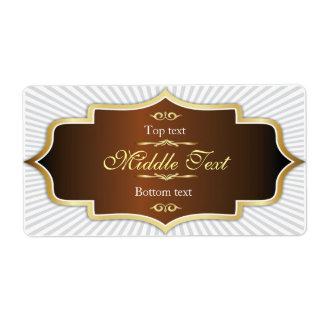 Etiqueta de lujo Brown de la jalea del atasco del  Etiquetas De Envío