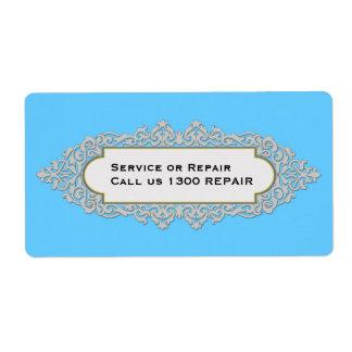 Etiqueta de lujo de la reparación del servicio del etiquetas de envío