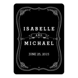 Etiqueta de lujo del regalo de boda del vintage de tarjetas de visita grandes