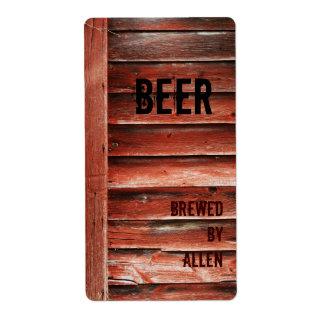 etiqueta de madera de la botella de cerveza de la  etiquetas de envío