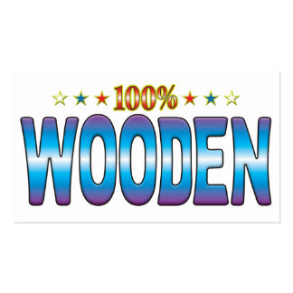 Etiqueta de madera v2 de la estrella tarjetas de visita